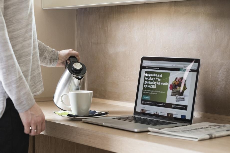 Nelle camere del Park Hotel Pordenone trovi bollitore per thè e caffè